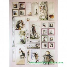 Panel tela Año Mágico 3 El altillo de los duendes en tienda merceria la margarida creativa 2