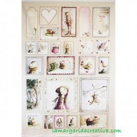 Panel tela Año Mágico IV El altillo de los duendes en tienda merceria la margarida creativa 2