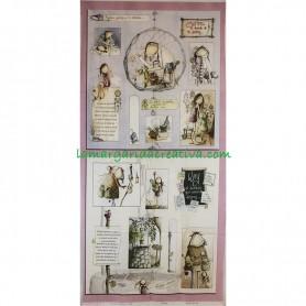 Panel tela Serendipia III El altillo de los duendes en tienda merceria la margarida creativa 1