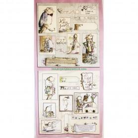 Panel tela Serendipia I El altillo de los duendes en tienda merceria la margarida creativa 1