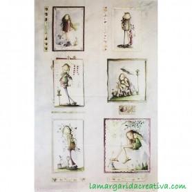 Panel tela Año mágico enero junio El altillo de los duendes en tienda merceria la margarida creativa 1
