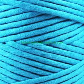 Macramé Azul Turquesa Hilo cordón cuerda fibras recicladas 4mm en lamargaridacreativa