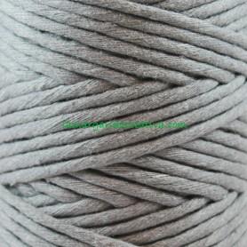 Macramé Gris Oscuro Hilo cordón cuerda fibras recicladas 4mm en lamargaridacreativa
