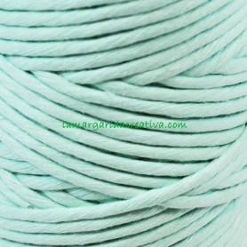 Macramé Verde Mint Hilo cordón cuerda fibras recicladas 4mm en lamargaridacreativa