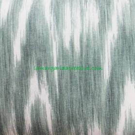 Loneta Rústica Mallorquina Verde tela de lenguas mallorquinas  tela ikat la margarida creativa 1