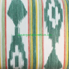 Loneta Rústica Mallorquina Multicolor tela de lenguas mallorquinas  tela ikat la margarida creativa