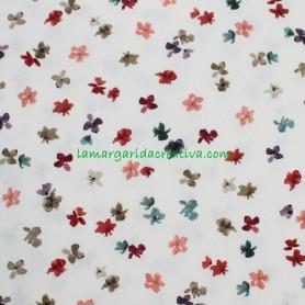 Tela Algodón Flores Romantic Spring Patchwork y costura lamargaridacreativa 1