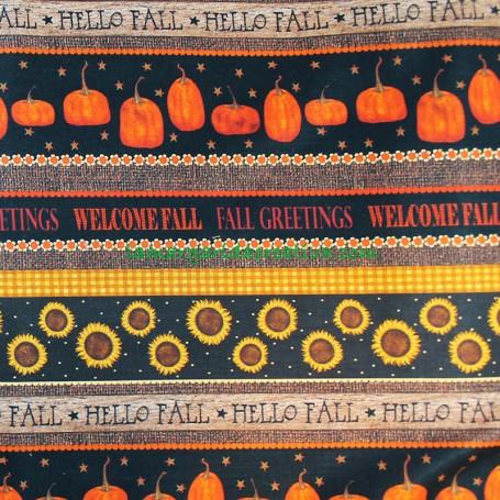 Tela Halloween Calabazas Welcome Fall en tienda telas la margarida creativa 1