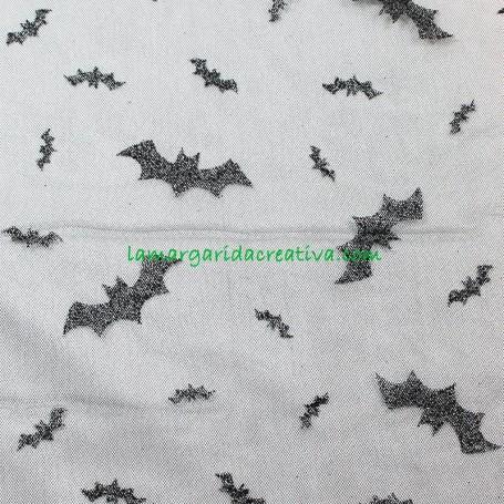 TUL NEGRO PURPURINA MURCIÉLAGOS BLACK BATS