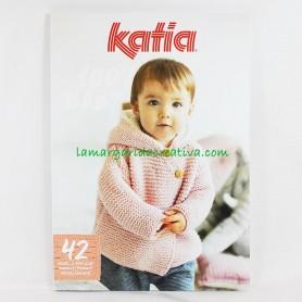 Revista Katia Bebé 100% Baby nº98  42 patrones de prendas en tienda telas lanas merceria barcelona lamargaridacreativa 1