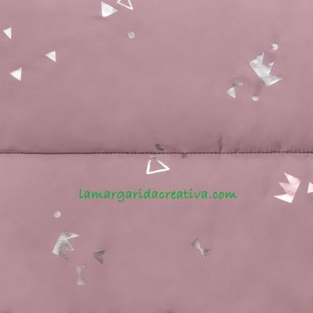 Tejido para abrigo y saco acolchado rosa padded silver print pink en tienda telas merceria la margarida creativa 1