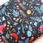 Soft Shell Animales bosque Dark Forest en tienda telas y merceria online lamargaridacreativa 6