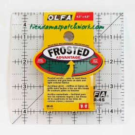 Regla patchwork cuadrada 4,5x4,5 Pulgadas Olfa 1