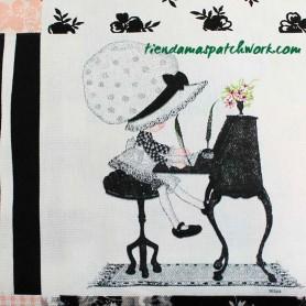 Tela patchwork loneta Holyy Hobbie 4